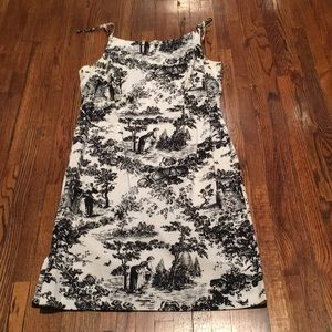 Teddy black and white print stretch dress sz 8
